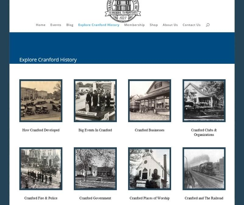 Cranford Historical Society Launches New Website